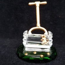 Crystal and Metal Lawnmower Ornament