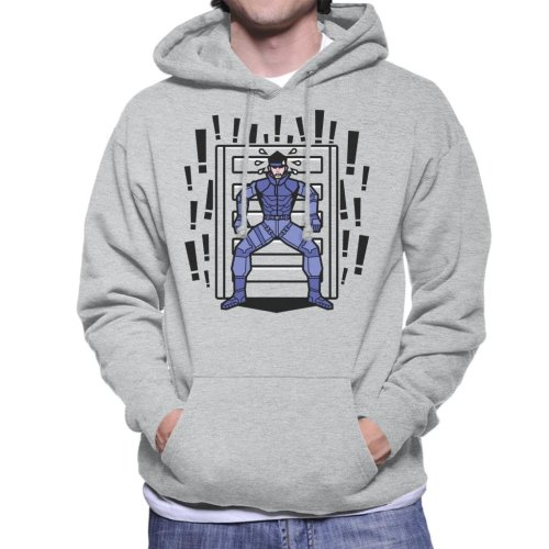 Alert Snake Metal Gear Solid Men's Hooded Sweatshirt
