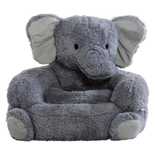 Trend Lab 101001 Childrens Plush Elephant Character Chair