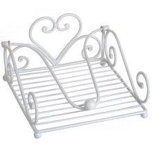 White Heart Napkin Holder - Perfect Home -  heart napkin holder perfect home
