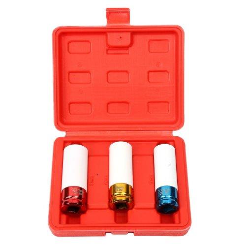 21 mm 17 19 1//2-Inch Drive Metric Extra Thin Wall Deep Wheel Protector Impact Socket Set 3 Size