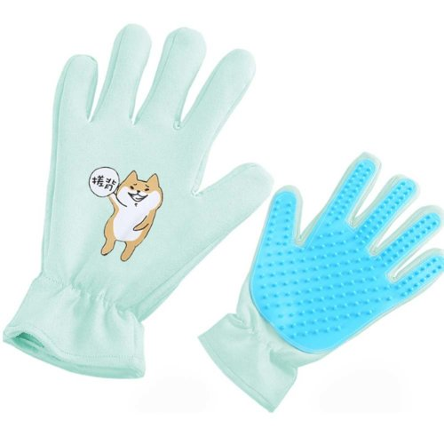 Pet Grooming Glove Brush Glove Pet Hair Remover Massage Tool