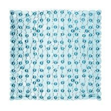 Pebble Design Square Bath Mat, Blue