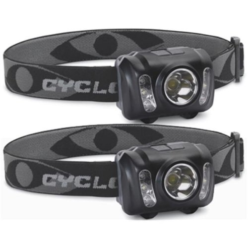 Cyclops CYC-HL210-2PK 210 Lumen LED Headlamp with Adjustable Headband - Pack of 2