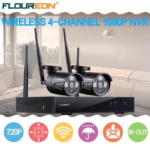 4H Wireless Home NVR Security System WIFI CCTV 720P IP Camera AHD DVR