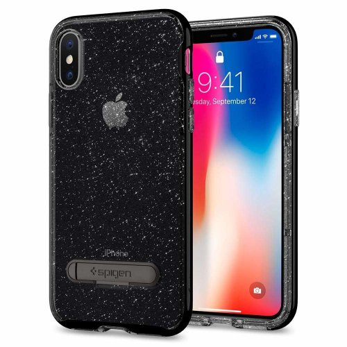 huge selection of 3e3f0 fba0f Spigen 057CS22148 [Crystal Hybrid Glitter] iPhone X Case, Light but Durable  and Flexible Clear TPU Protection for iPhone X with kickstand- Space...