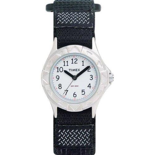 Timex 6518138 Wrist Watch Child Unisex Round Analog Nylon Water Resistant - Black
