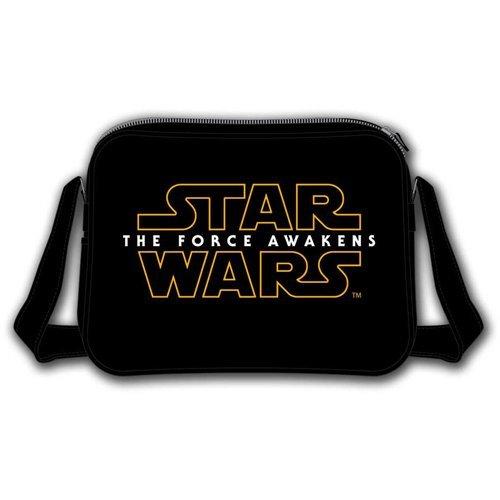 Star Wars VII The Force Awakens Main Logo Messenger Bag, Black (Model No. CD106STW-MB)