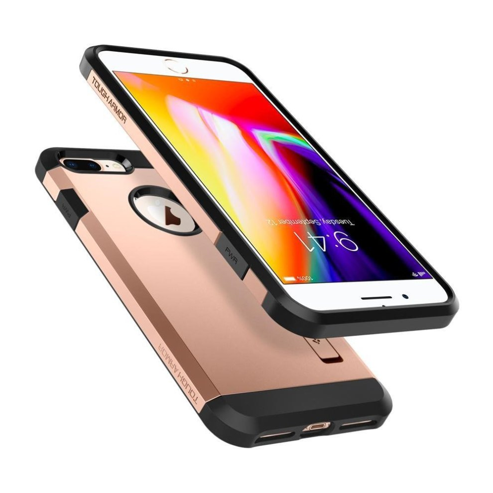 low priced 74d51 7bc55 iPhone 8 Plus Case, Spigen® Tough Armor [2nd Generation] iPhone 7Plus Case  Cover with Kickstand and Extreme Heavy Duty Protection and Air Cushion...