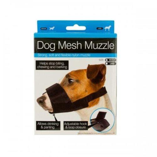 Bulk Buys OF792 Adjustable Nylon Mesh Dog Muzzle