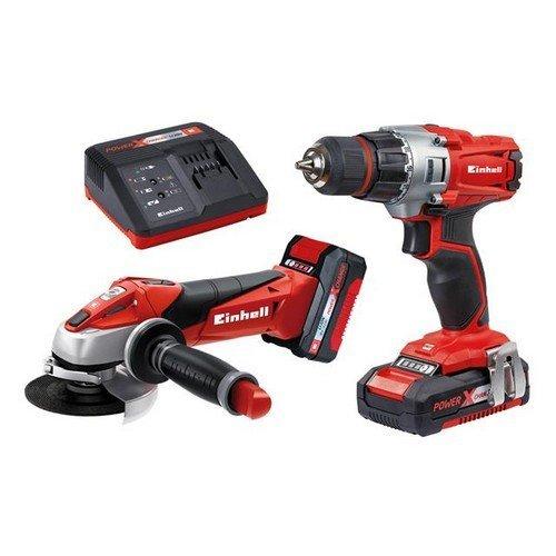 Einhell 4257211 TE-TK 18 Li Drill & Grinder Kit 18V 1 x 1.5Ah & 1 x 3.0Ah Li-ion