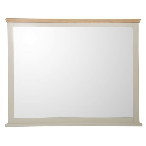Cunningham Wall Mirror Truffle Cream Painted Finish Fully Assembled