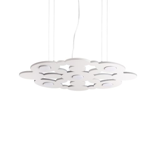 Ideal Lux Toronto - 5 Light Pendant Light White - IDL195285