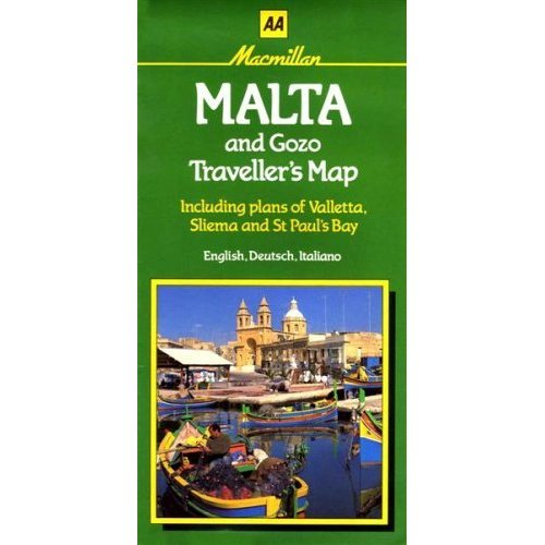 Malta and Gozo Traveller's Map (AA Maps)