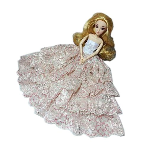 High-end Handmade Wedding Costume Luxurious Party Gown Dresses Princess Clothes for Dolls, N