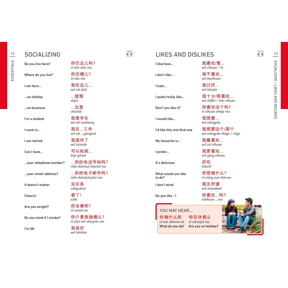 Mandarin Chinese Phrase Book: Essential Reference for Every Traveller  (Eyewitness Travel Guides Phrase Books)