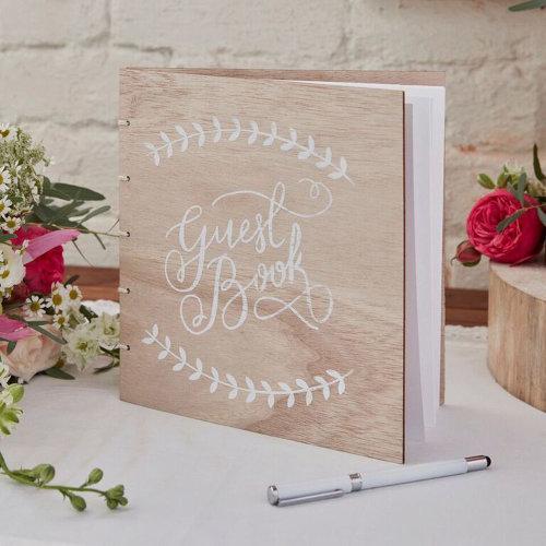 Wooden Wedding Guest Book - Boho / Rustic Wedding