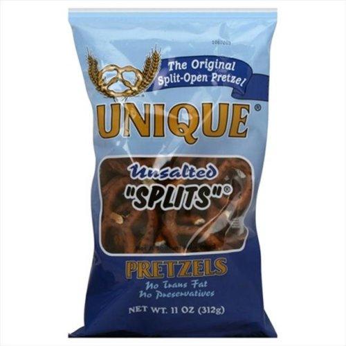Pretzels Unsalted Splits 11 Oz -Pack of 12