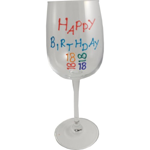 Birthday Gift Wine Glass (Brights)