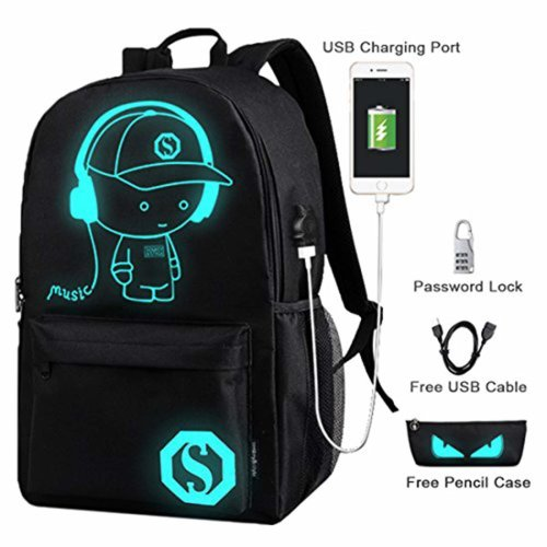 Cool Boys School Backpack Luminous School Bag Music Boy Backpack for Kids (Children)