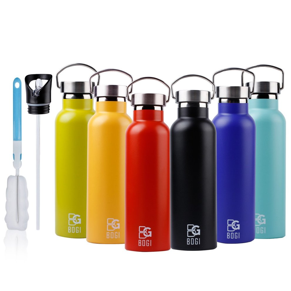 b4cc0c1a6d BOGI 600ml Double Wall Vacuum Insulated Stainless Steel Water Bottle-Scratch  Resistance&Eco-Friendly for Outdoor Sports Yoga Camping,Straw Flip... on  OnBuy