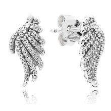 Pandora Majestic Feathers Stud Earrings - 290581CZ