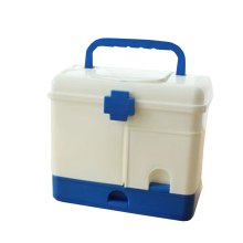 Useful Family Medicine Chest Multifunctional Big FIRST Aid Case Blue7.8''