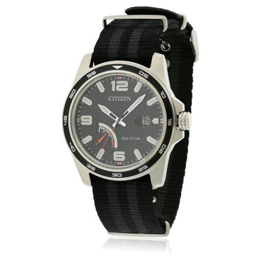 Citizen AW7030-06E Mens Eco-Drive Black Dial Sport Watch