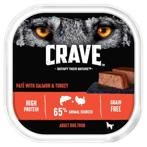CRAVE Dog Tray With Turkey & Salmon In Loaf 10x300g