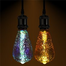 Fireworks E27 ST64 LED Retro Edison Decor Glass Bulb Light Lamp AC85-265V Cafe Home Decor
