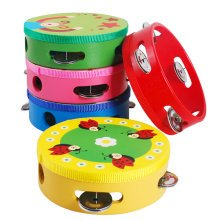 Kids Musical Instruments Toy Tambourine Cute Hand Drum, Baby Boy(Color Random)