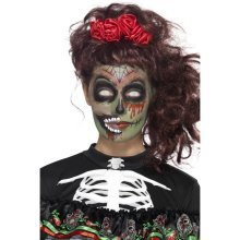 Smiffy's 44915 Day Of The Dead Zombie Make-up Kit (one Size) - Makeup Halloween -  day dead zombie makeup halloween fancy dress face