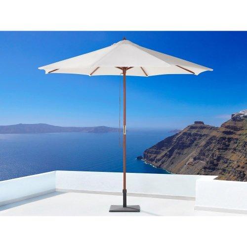 Wooden Market Umbrella - Parasol Garden & Patio - TOSCANA Off-White