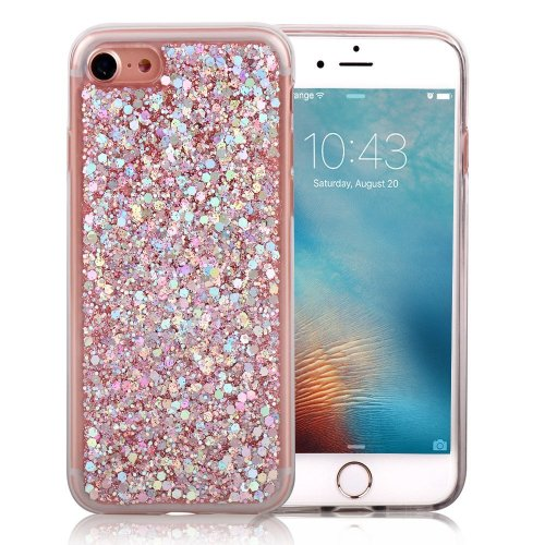 0d3077bc6 iPhone 6 Glitter Case 4.7 inch, iPhone 6S Cover LCHULLE Gold Hexagonal Star  Paillette Pattern Sparkle Bling Bling Ultra Thin Soft TPU Cover, ...