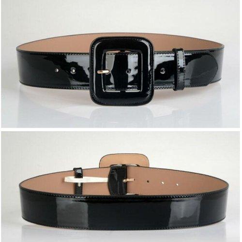 Hot Sale Leather Belts Free Shipping fashion pin buckle gold black luxury punk wide belt strap waistband dress wear for women
