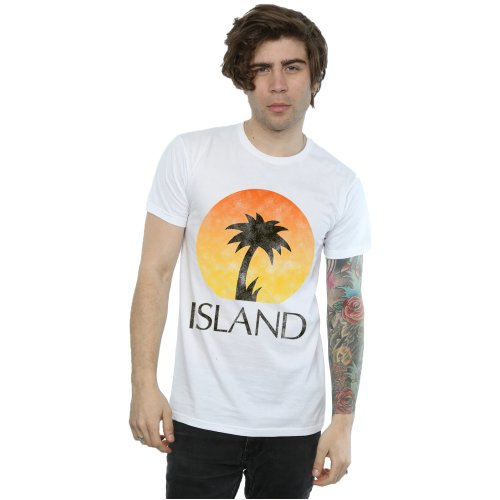 Island Records Men's Distressed Logo T-Shirt