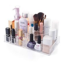 LaRoc Clear Acrylic Cosmetic Organiser Makeup Box Tidy Case