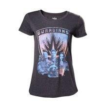 Guardians Of The Galaxy 2 Guardians Girls Shirt Mottled Dark Grey XL Size