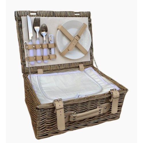 35cm 2 Person Fitted Picnic Basket with Chiller