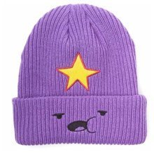 Adventure Time Lumpy Space Princess Face Unisex Fisherman Beanie, One Size, Purple (Model No. KC0SWSADV)