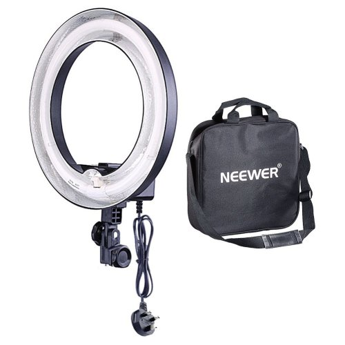 Neewer 50W (Equivalent to 400W) 5500K Photographic Lamp Ring Fluorescent Flash Light, 14 inches Outer 10 inches Inner, with a Black Carrying Bag,...
