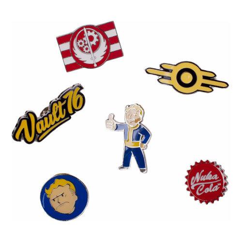 FALLOUT 76 Set of 6 Metal Pin Badges Collector's Set, Unisex, Multi-colour (PI601678FAL)