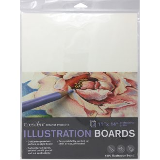 "Crescent Illustration Board 3/Pkg-11""X14"" White"