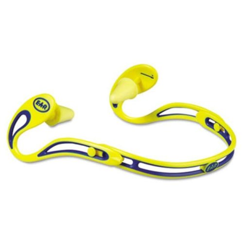 3M 3222000 Swerve Banded Hearing Protector  Corded  Yellow