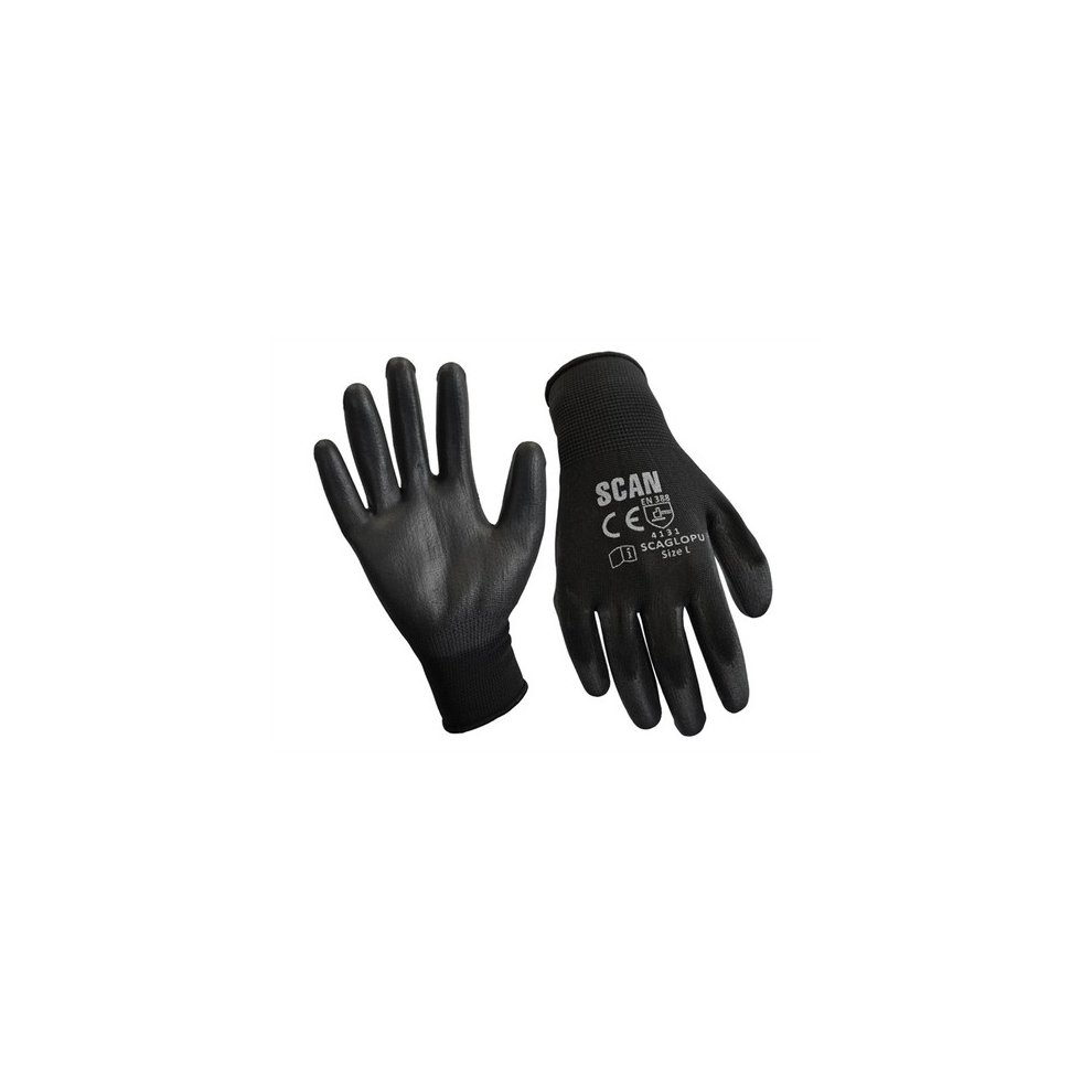 size 8 Scan Seamless Inspection Gloves Medium pack 12