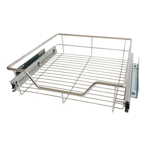 500mm Pull out Wire Basket Kitchen Larder Base Unit Cupboard Drawer