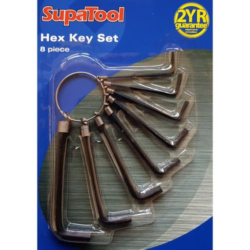 8 PIECE ALLEN/HEX KEY SET. 1.5mm ,2mm ,2.5mm ,3mm ,3.5mm ,4mm ,5mm ,6mm
