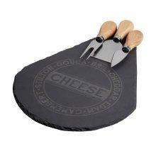 4pc Cheese Set - Black