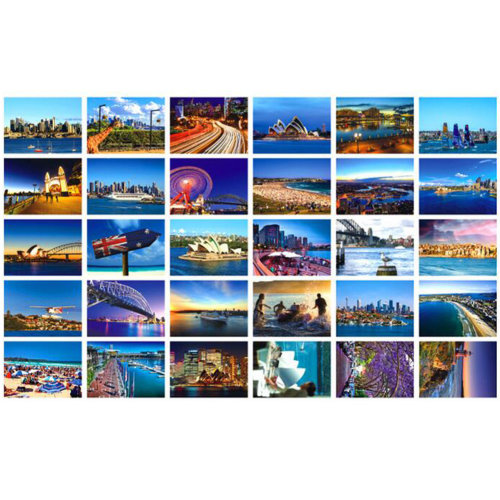 Collectible 30 PCS 1 Set World's Artistic Beautiful Postcards, Sydney