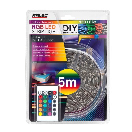 Arlec Colour Changing RGB LED Strip Light 5m